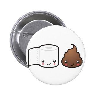 Botón de los pares del baño pin
