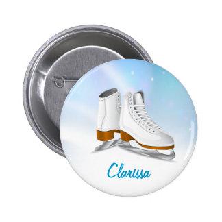 Botón de los patines de hielo pins