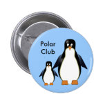 Botón de los pingüinos del dibujo animado pin