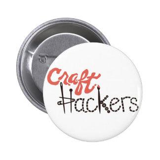 Botón de los piratas informáticos del arte pin redondo de 2 pulgadas