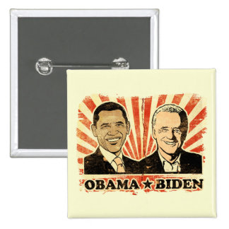 Botón de los retratos de Obama Biden Pin
