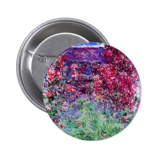 Botón de los rosas de Monet