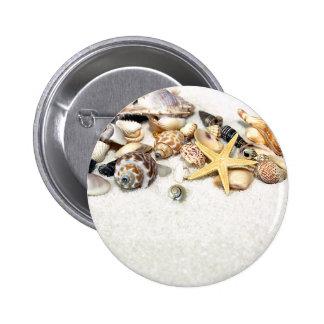 Botón de los Seashells Pin Redondo De 2 Pulgadas