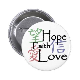 """Botón de los """"símbolos chinos"""" pins"""