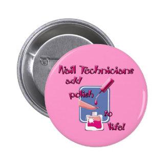 Botón de los técnicos del clavo pin redondo de 2 pulgadas
