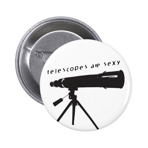 Botón de los telescopios pins