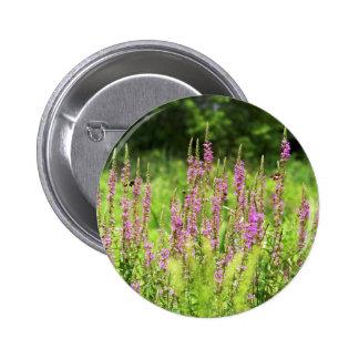 Botón de los Wildflowers Pin Redondo De 2 Pulgadas