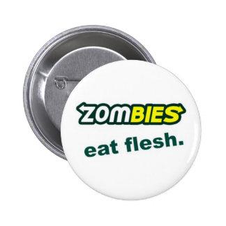 Botón de los zombis pin redondo de 2 pulgadas