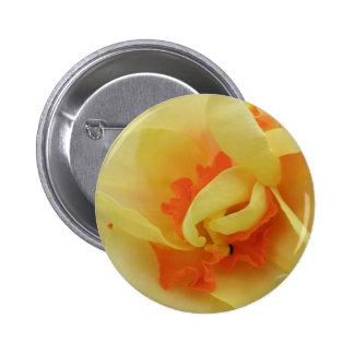 Botón de lujo del narciso pin redondo de 2 pulgadas