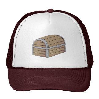 Botón de madera antiguo de encargo del cofre del gorra