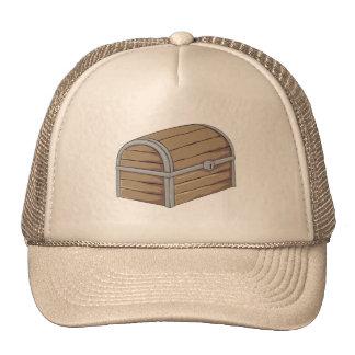 Botón de madera antiguo de encargo del cofre del gorras