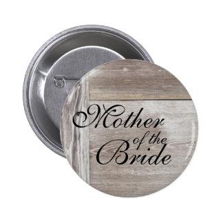 Botón de madera del boda del granero pin redondo de 2 pulgadas