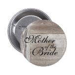 Botón de madera del boda del granero pins