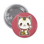 Botón de Maneki Neko (gato afortunado)