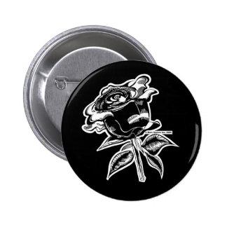 Botón de MARC VACHON BLACKROSE Pin Redondo De 2 Pulgadas