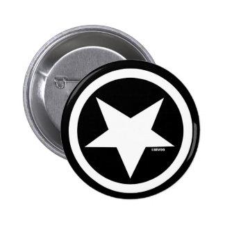 Botón de Marc Vachon Blackstar Pin Redondo De 2 Pulgadas