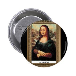 Botón de Marcel Duchamp LHOOQ Pin Redondo De 2 Pulgadas
