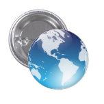 Botón de mármol azul pins