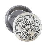 Botón de mármol de Triskelion del nudo irlandés cé Pins