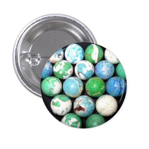 Botón de mármol del rey pin
