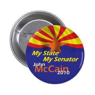 Botón de McCain 2010 Pin Redondo De 2 Pulgadas