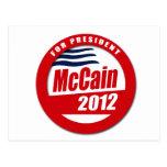 Botón de McCain 2012 Postales