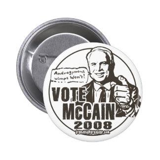 Botón de McCain del voto Pins