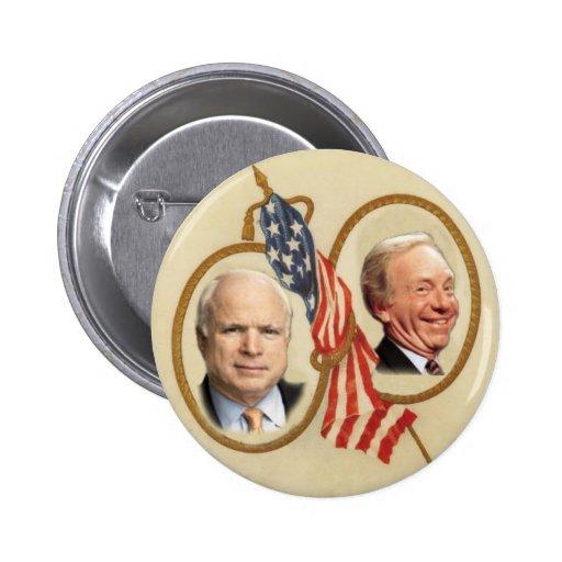 Botón de McCain/Lieberman Pin