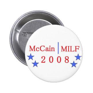 Botón de McCain/MILF Pin Redondo De 2 Pulgadas