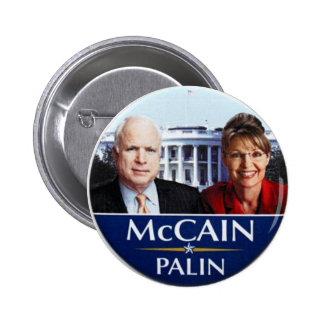 Botón de McCAIN-Palin Pin Redondo De 2 Pulgadas