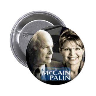 Botón de McCain Palin Pin Redondo De 2 Pulgadas