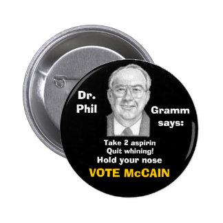 Botón de McCain/Phil Gramm