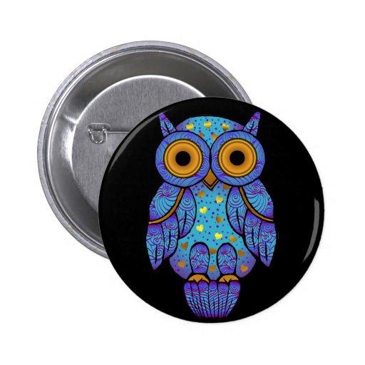 Botón de medianoche de la locura del búho de H00t Pin Redondo De 2 Pulgadas