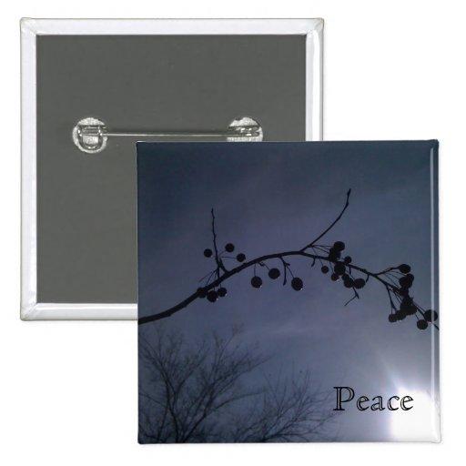 Botón de medianoche de la paz del mediodía