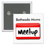 Botón de Meetup de las mamáes de Bethesda Pin Cuadrado