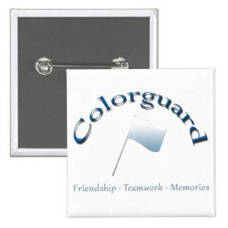 Botón de memorias del trabajo en equipo de la amis pin cuadrado