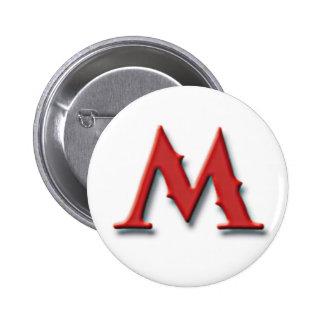 Botón de Metrognome M Pin Redondo De 2 Pulgadas