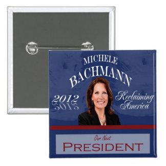 Botón de Micaela Bachmann 2012 Pin Cuadrado