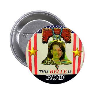 Botón de Michelle Bachman Liberty Bell Pin Redondo De 2 Pulgadas