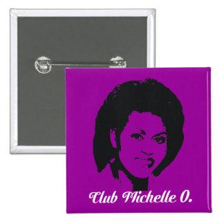 Botón de Michelle O del club, en amatista Pin