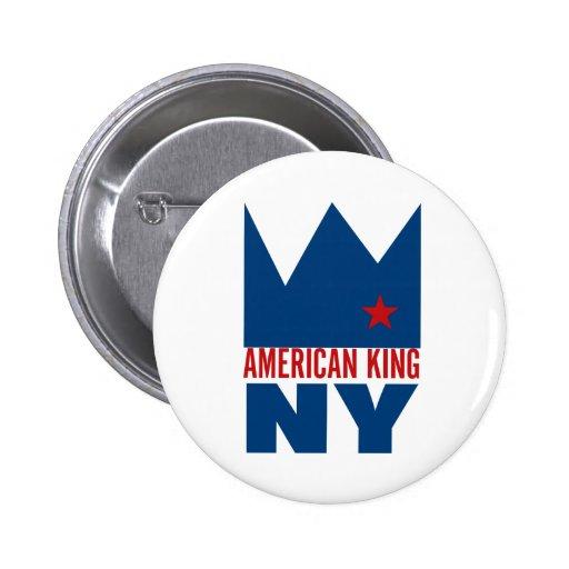 Botón de MIMS - rey americano de NY Pin