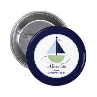 Botón de moda de la etiqueta del nombre del velero
