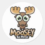 Botón de Moosey Pegatina Redonda