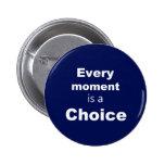 """Botón de motivación - azul - """"cada momento """" pins"""