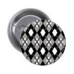 Botón de muy buen gusto gris de Argyle Pins