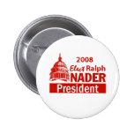 Botón de NADER 2008 Pin
