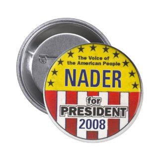 Botón de Nader 2008 Pins