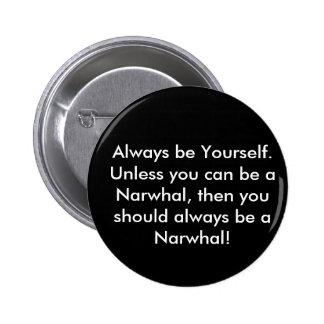 Botón de Narwhal Pin Redondo De 2 Pulgadas