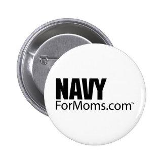 botón de NavyForMoms.com Pin Redondo De 2 Pulgadas