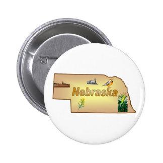 Botón de Nebraska Pins